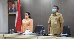Sekdaprov Sulut Edwin Silangen SE MS bersama Ketua DWP Sulut Dra Ivonne Silangen Lombok