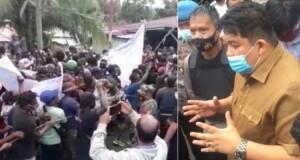 Kaban Kesbangpol Daerah Provinsi Evans Steven Liow S.Sos didampingi aparat kepolisian memberikan penjelasan dengan baik, sehingga diterima mahasiswa Papua, Senin (21/09/2020)
