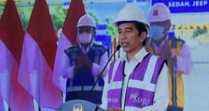 Presiden Joko Widodo saat peresmian jalan tol Manado-Bitung, Selasa (29/09/2020).