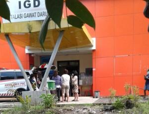 Jenazah korban meninggal dunia Anak usia 6 tahun, saat berada di IGD RSUD Maria Walanda Maramis.