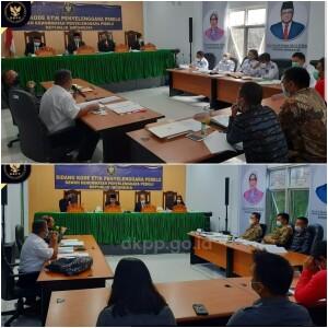 Dokumentasi foto DKPP RI saat menggelar sidan etik terhadap KPU dan Bawaslu Minut november lalu.
