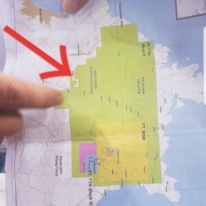 PETA WIUP PT. MSM-TTN berdasarkan Kontrak Karya disinyalir akan melakukan eksplorasi di wilayah Zona Putih di Desa Tatelu.