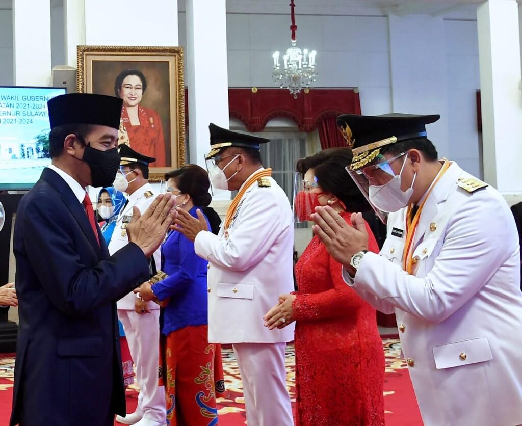 Ucapan selamat oleh Presiden Jokowi usai pelantikan