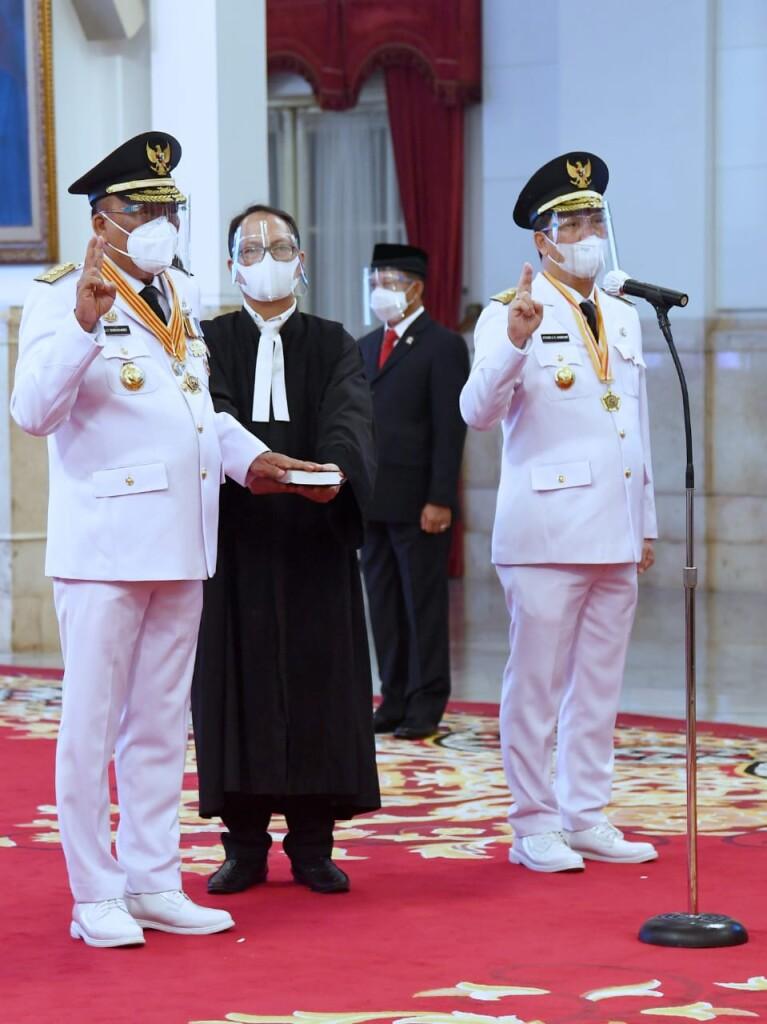 Prosesi Pelantikan Gubernur dan Wakil Gubernur Sulut