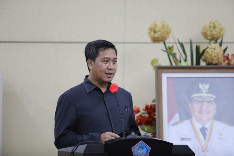 Wakil Gubernur Drs Steven OE Kandouw saat menyampaikan pesan bagi kelima Plh Bupati/Walikota, Kamis (18/02/2021)