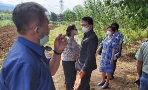 TURLAP: Personil Komisi 3 melakukan peninjauan lokasi lahan RSUD yang dibayarkan di APBD 2020.