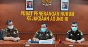 Kapuspenkum Kejagung RI Leonard Eben Ezer Simanjuntak SH., MH saat menggelar Konferensi Pers, Jumat (05/03/2021)