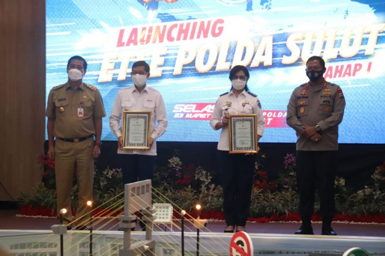 Caption foto: Suasana launching Electronic Traffic Law Enforcement (ETLE) Nasional Presisi oleh Kapolri Jenderal Polisi Listyo Sigid Prabowo.