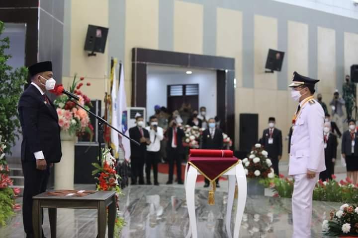 Prosesi pelantikan Walikota dan Wakil Walikota Manado