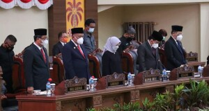 Suasana jalannya Rapat Paripurna DPRD Sulut