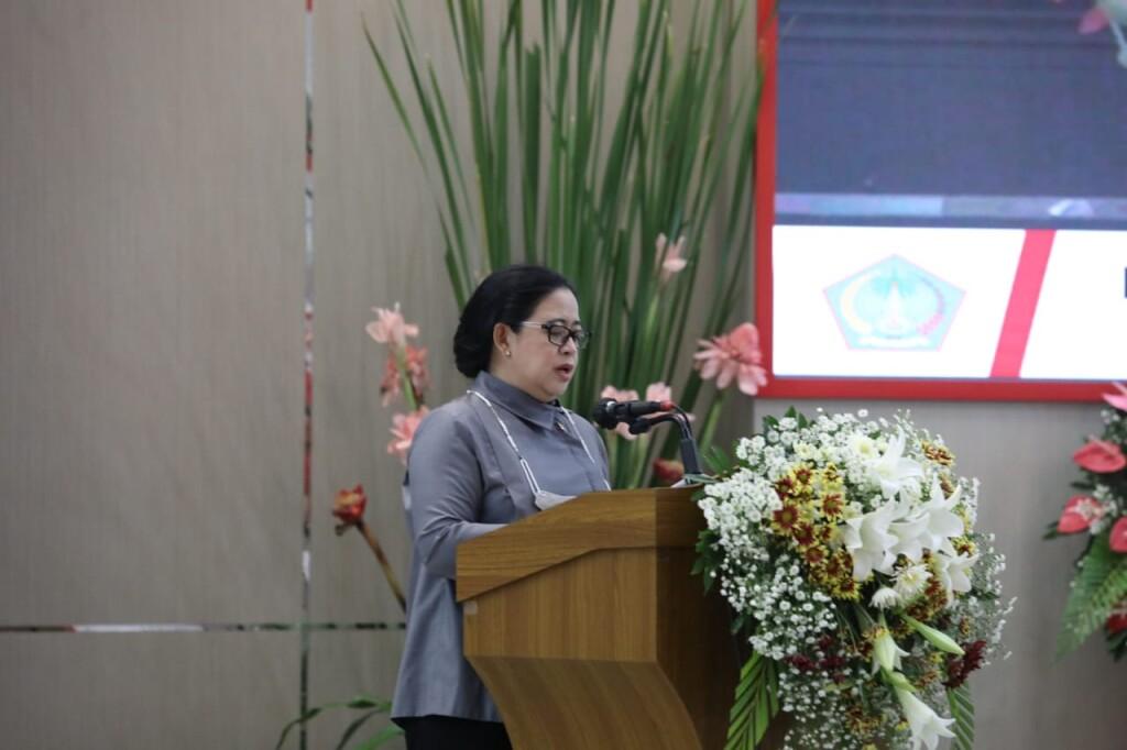 Ketua DPR RI Puan Maharani saat memberikan arahan kepada seluruh yang hadir