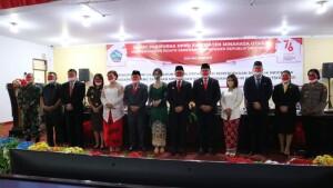 Foto bersama Pimpinan DPRD, Bupati dan Wabup serta FORKOPIMDA Minahasa Utara.