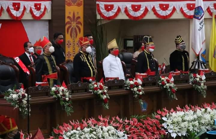 Rapat Paripurna DPRD Sulut dalam rangka HUT ke 57 Provinsi Sulut, Kamis (23/09/2021).
