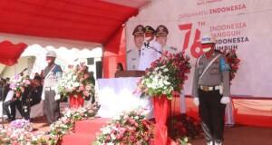 Walikota Tomohon Carol Senduk saat menjadi Irup di HUT RI tahun 2021