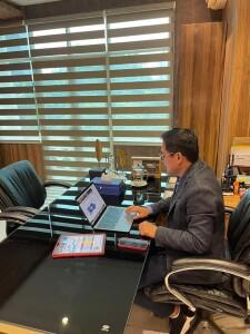 Foto: Bupati Minut, Joune Ganda mengikuti rapat yang membahas mengenai Penyusunan Usulan Anggaran Pendapatan dan Belanja Negara (APBN).
