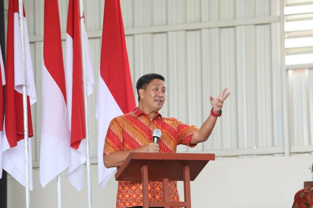 Wakil Gubernur Sulut, Drs Steven OE Kandouw saat menyampaikan sambutan di Tomohon, Kamis (09/09/2021).