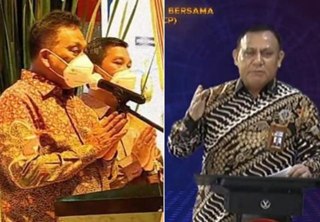 Gubernur - Wagub Sulut dan Ketua KPK RI