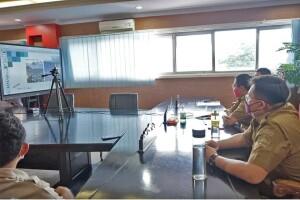 Bupati Minut, Joune Ganda didampingi Wakil Bupati, Kevin Lotulung & Sekda mengikuti rakor percepatan pembangunan Destinasi Pariwisata Super Prioritas (DPSP).