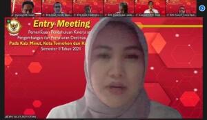 Zoom Meeting Pemeriksaan Kinerja Pengembangan dan Pemasaran Destinasi Pariwisata oleh BPK perwakilan Sulawesi Utara.