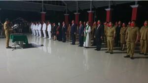 Pelantikan dan Pengambilan sumpah janji dan jabatan oleh Bupati Joune Ganda di Pendopo, Selasa 9 September 2021.