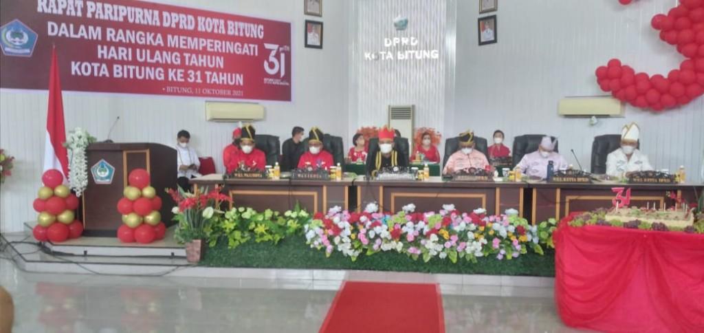 Sidang Paripurna Istimewa DPRD Kota Bitung dalam rangka HUT ke-31 Kota Bitung