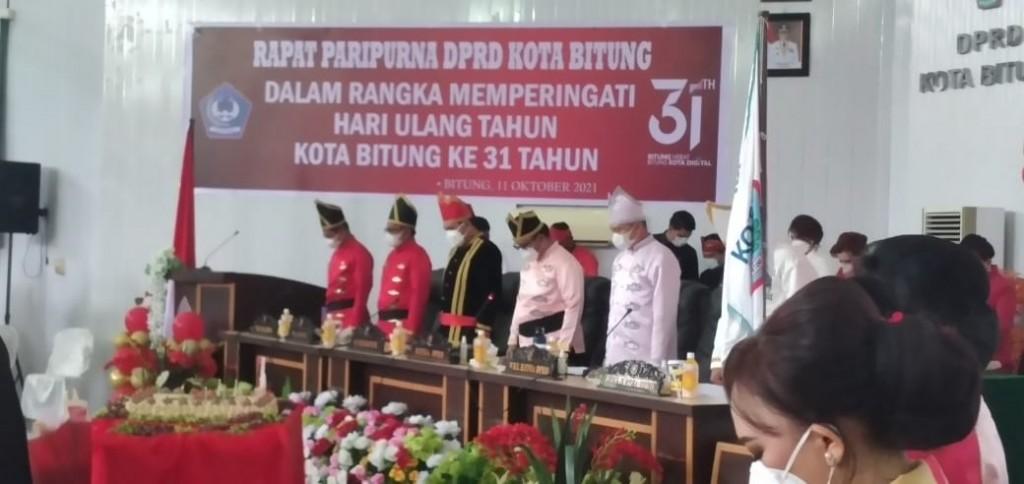 Suasana sidang Paripurna Istimewa DPRD Kota Bitung