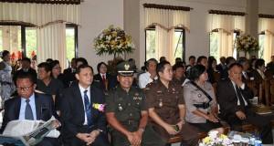 Sekretaris Kota Manado, Ir.M.H.F Sendoh, saat menghadiri Hut Kota Tomohon.
