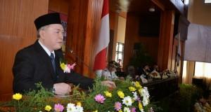 Asisten I Setda Pemprov Sulut John Palandung mewakili Gubernur Sulut hadiri HUT Kota Tomohon ke-12