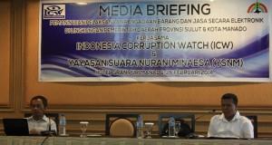 Lais ABid dari ICW saat hadir di acara Yayasan Suara Nurani Minaesa di Hotel granpuri Manado, Kamis (26/2).