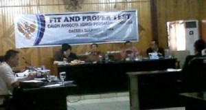 Komisi I DPRD Sulut gelar fit and proper test kepada calon anggota KPID Sulut, Kamis (5/2)