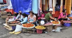 Kondisi pedagang di pasar Tomohon