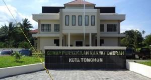 Kantor DPRD Kota Tomohon. foto (riri)