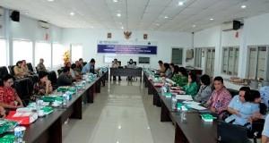 Pertemuan antara managemen pelaksana program BPJS Kesehatan dengan Pemprov Sulut, Kamis (19/3)