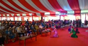 Suasana pembukaan kegiatan nasional BBGRM dan HKG di Kabupaten Minahasa Utara (Minut), Selasa (26/5)