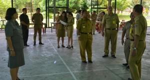 Peninjauan lokasi acara BBGRM-HKG di Minahasa Utara