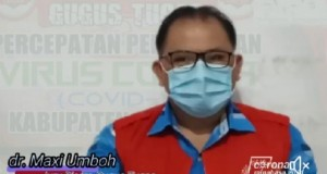 Jubir Gugus Tugas Covid-19 Kabupaten Minahasa, dr Maxmilian Umboh