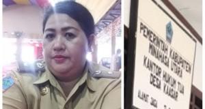 Feli Peleh Hukum Tua Desa Kaasar, Kecamatan Kauditan.
