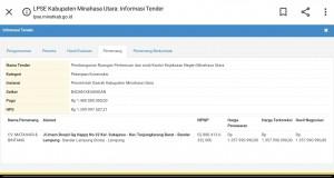 Informasi pemenang tender proyek