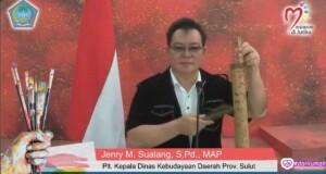 JENRY SUALANG SPD MAP, Kadis Kebudayaan Daerah Provinsi Sulut saat membuka kegiatan Lomba Seni Lukis Virtual, Jumat (10/07/2020)