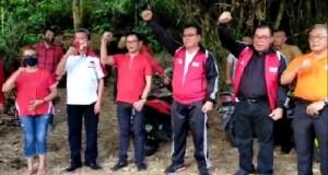 Kadis Kebudayaan Daerah Provinsi Jenry Sualang SPd MAP saat melepas Tim Ekspedisi Kolintang ke Puncak Gunung Klabat, Minggu (16/08/2020) sore