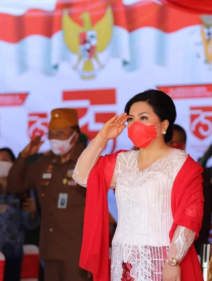 Ketua TP PKK Provinsi Sulut Ibu Ir Rita Maya Dondokambey Tamuntuan