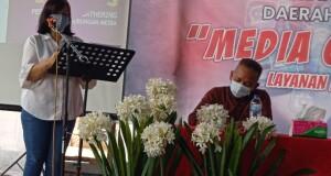 Pembukaan kegiatan Media Gathering Layanan Hubungan Media Diskominfo Sulut, Jumat (25/06/2021).
